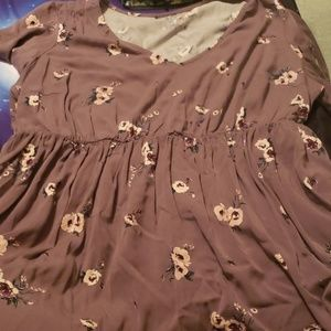 Torrid babydoll style floral top size 2